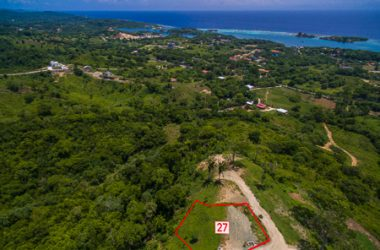 Honduras - Ocean view lot 27 White Hill of Coral Views, Roatan