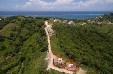 Honduras - Ocean view lot 28 White Hill of Coral Views, Roatan