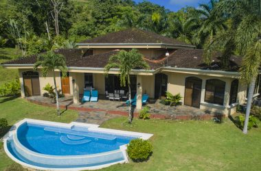 Costa Rica - 4.8 ACRES – 3 Bedroom Luxury Ocean View Home With Pool Adjacent To Nature Reserve!!!
