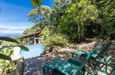 Dominical Costa Rica - 2.5 ACRES – 1 Bedroom Charming Ocean View Home With Pool Surrounded By Jungle!!!!