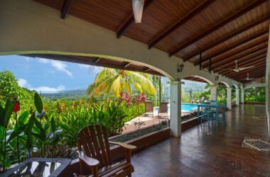 Uvita Costa Rica - 0.56 ACRES – 4 Bedroom Sunset Ocean View Home With Pool, Caretaker House, Easy Access!!!!
