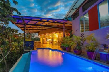 Manuel Antonio Costa Rica - 1.33 ACRES – 3 Bedroom Modern Funky Home W/ Pool In Gated Development With Great Mountain Views!!!!