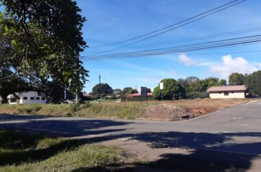 Chiriqui Panama - Commercial area in Algarrobos, on Boquete highway
