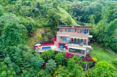 Dominical Costa Rica - 2.76 ACRES – 3 Bedroom Tropical Villa With Pool And Sunset Ocean Views!!!!