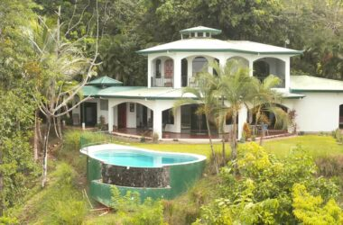 Hatillo Costa Rica - 0.6 ACRES – 2 Bedroom Sunset Ocean View Home With Pool And Fabulous Rain Forest!!!!